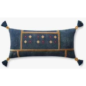"Navy Multi 12"" x 27"" Pillow"