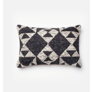"P0098 CHARCOAL / IVORY (13"" X 21"" PILLOW)"