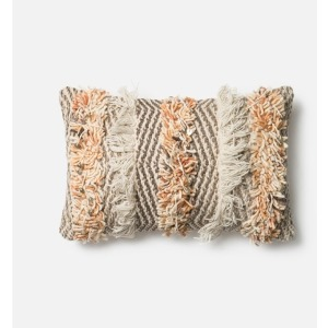 "P0343 RUST / IVORY (13"" X 21"" PILLOW)"