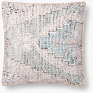 "Blue Grey 18"" x 18"" Pillow w/Down Insert"