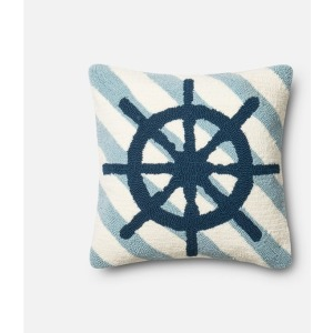 "P0354 NAVY / IVORY (18"" X 18"" PILLOW)"