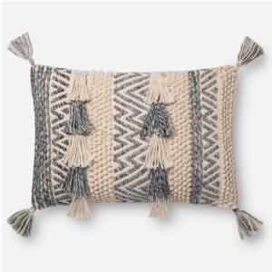 "Natural Grey Pillow (16"" X 26"" PILLOW)"