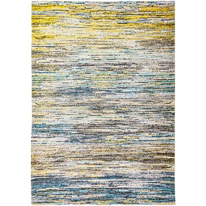 Blue and Yellow Mix Rug
