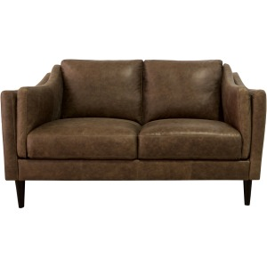 Ava Leather Loveseat - Bomber Tan