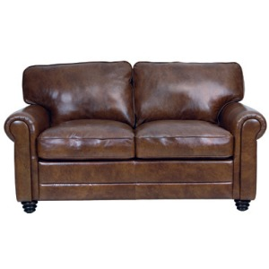 Andrew Leather Loveseat - Havana