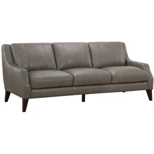 Ryder Leather Sofa - Stallion Light Gray