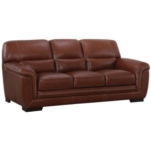 Beckett Leather Sofa - Stallion Chestnut