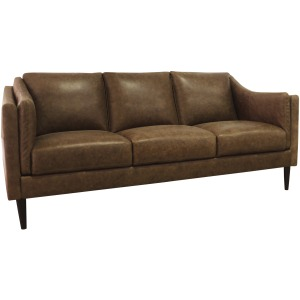 Ava Leather Sofa - Bomber Tan
