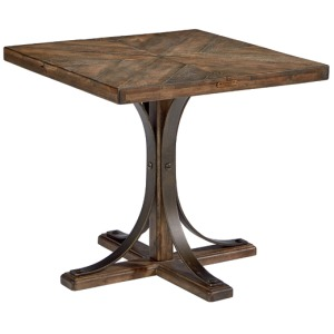 Iron Trestle End Table