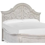 Bronwyn Wood King Panel Bed Shaped Headboard KD