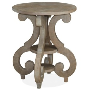 Tinley Park Round Accent End Table