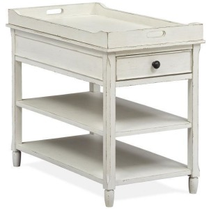 Mosaic Chairside End Table - White