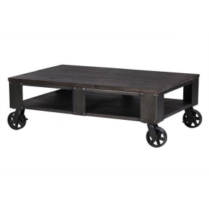 Milford Rectangular Cocktail Table (2 braking casters)
