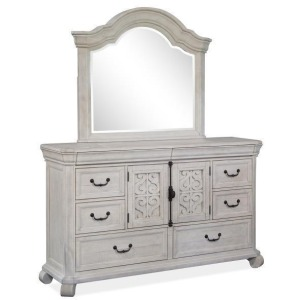 Bronwyn Drawer Dresser & Shaped Mirror