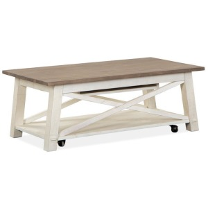 Sedley Lift Top Storage Cocktail Table w/Casters