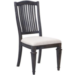 Dining Side Chair with Uphl seat and wood back (2pcs/ctn)