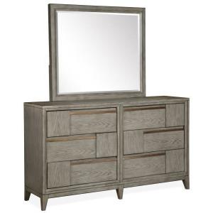 Atelier Double Drawer Dresser & Landscape Mirror