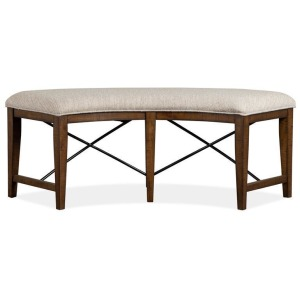 Bay Creek Curved Bench w/Upholstered Seat