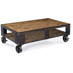 Pinebrook Rectangular Cocktail Table (2 braking casters)
