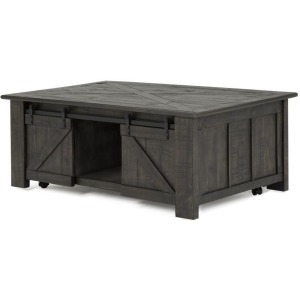 Garrett Rectangular Lift-Top Cocktail Table w/casters