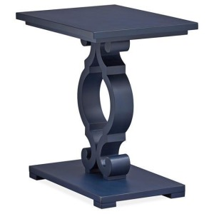 Mosaic Chairside End Table - Weathered Navy