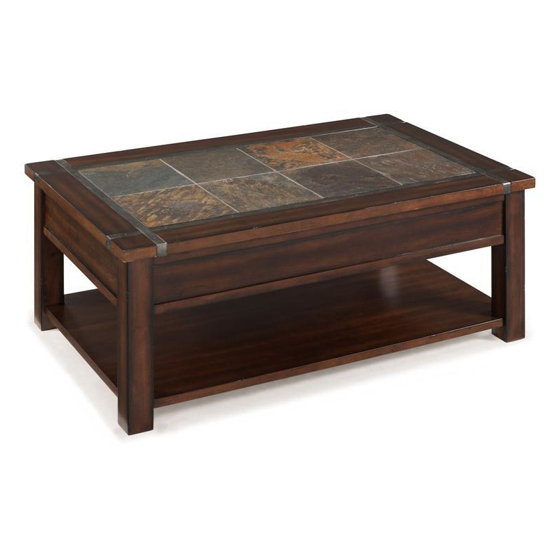 Roanoke Rectangular Lift Top Cocktail Table (w/casters) By