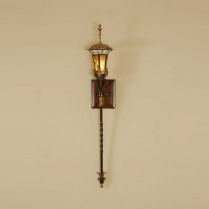 Textured Verdigris Finished Wall Lamp