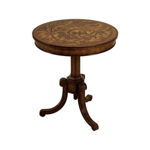 Round Aged Regency Finished Tripod Base Occasional Table