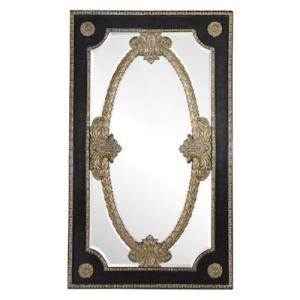 Ambassador Leather Inlay Floor Mirror