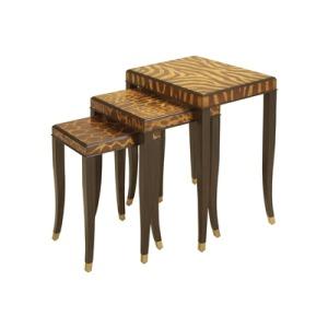Set of Three Ebony Finished Nest of Tables