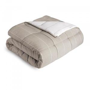 Woven Down Alternative Chambray Comforter Set, Queen, Birch