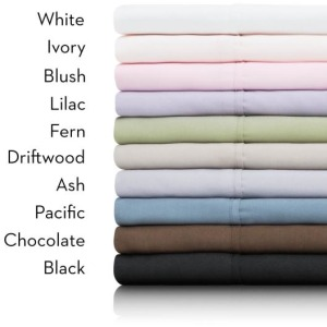Brushed Microfiber Woven Linens -Queen Ivory