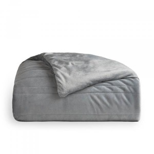 "Malouf Weighted Blanket, 60"" x 80"", 15 lbs, Ash,"