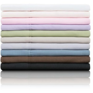 Woven Microfiber Sheet Set, King, White