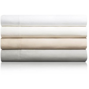 Woven 600TC Cotton Blend Sheet Set, King, Ivory