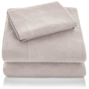 Woven Portuguese Flannel Sheet Set, Split King, Oatmeal