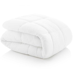 Woven Down Alternative Microfiber Comforter, Queen, White