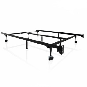 Structures Bed Frame with Wheels, Twin-King