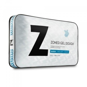 Zoned Gel Dough Queen Mid Loft Pillow