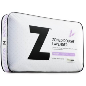 Zoned Dough Lavender Queen Mid Loft Pillow