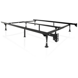 Malouf Universal Adjustable Bed Frame with Rollers