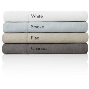 Woven French Linen Sheet Set, King, Smoke