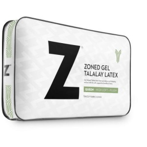 Z Zoned Gel Talalay Latex Pillow, Queen, Low Loft Firm