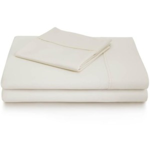 Woven 600TC Cotton Blend Sheet Set, King, White