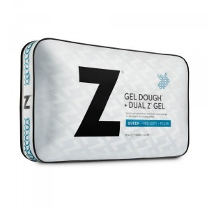Gel Dough + Dual Z Gel Queen Mid Loft Plush Pillow