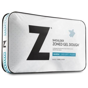 Z Shoulder Cutout Zoned Gel Dough, Queen, Mid Loft