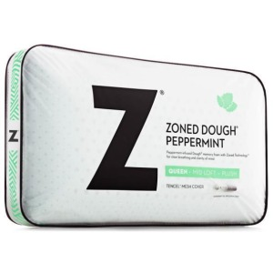 Zoned Dough Peppermint Queen Mid Loft Pillow