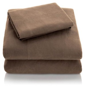 Woven Portuguese Flannel Sheet Set, King, Coffee