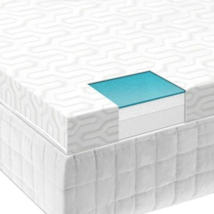 "Twin XL Isolus 2.5"" Liquid Gel Air Memory Foam Mattress Topper"