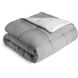 Chambray Comforter Set Oversized Queen Birch